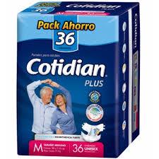 Cotidian Plus M 36 Pañales