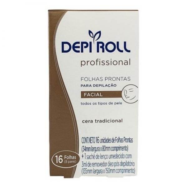 Bandas Depilatorias Depi Roll Rostro